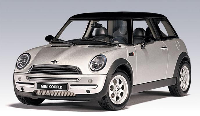 Autoart 2001 Mini Cooper W Sunroof Silver 74821 In 1