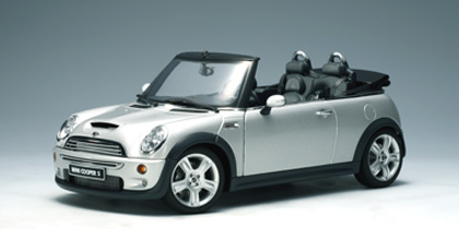 autoart mini cooper s cabriolet silver 74848 in 1 18. Black Bedroom Furniture Sets. Home Design Ideas