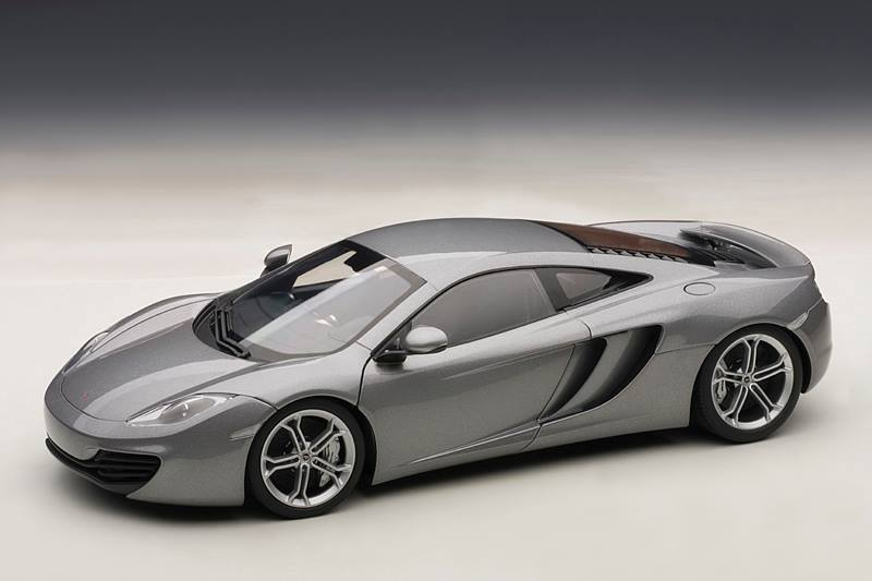 Autoart Mclaren Mp4 12c Silver 76007 In 1 18 Scale