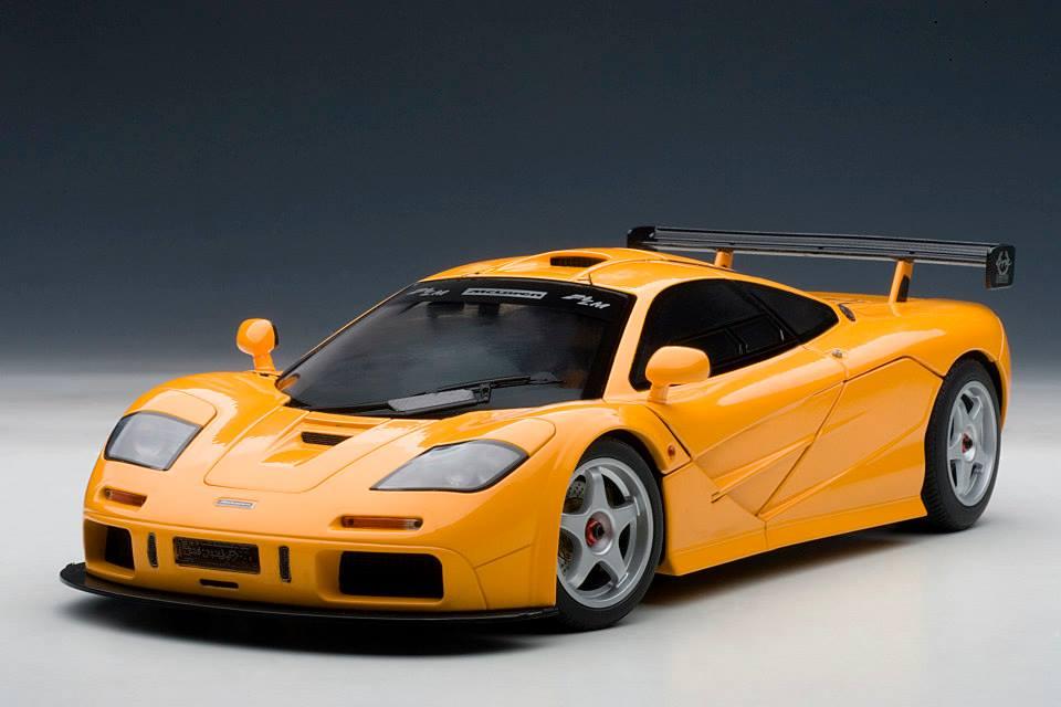 autoart: mclaren f1 lm edition - orange (76011) in 1:18 scale - mdiecast