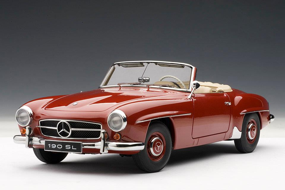 Autoart mercedes benz 190sl red 76116 in 1 18 scale for 1955 mercedes benz 190sl