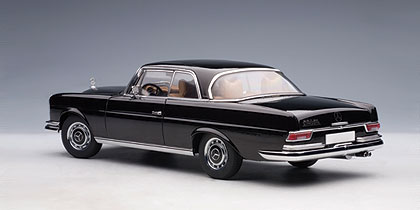 Autoart 1968 mercedes benz 280se coupe black 76286 in for 1968 mercedes benz 280 se convertible