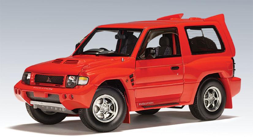 AUTOart: 1998 Mitsubishi Pajero Evo - Red (77132) in 1:18 scale - mDiecast