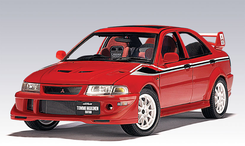 AUTOart: Mitsubishi Lancer Evo VI Tommi Makinen Edition - Red (77156) in 1:18 scale - mDiecast