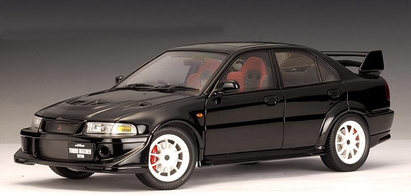 AUTOart: Mitsubishi Lancer Evo VI Tommi Makinen Edition - Black (77158) in 1:18 scale - mDiecast