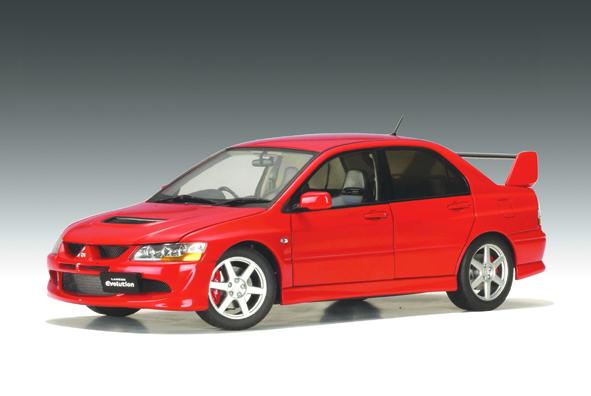 List Of Car Brands >> AUTOart: Mitsubishi Lancer Evo VIII Street Car - Red ...