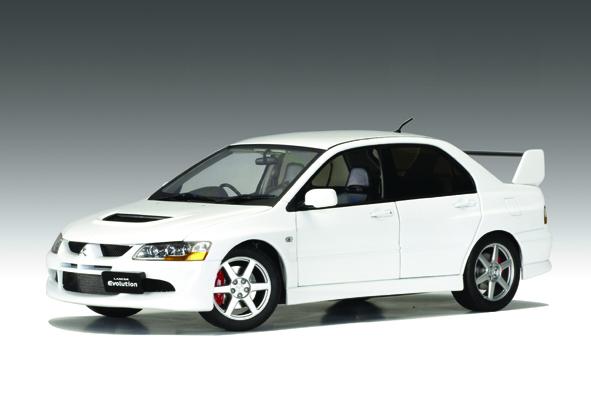 All Car Brands >> AUTOart: Mitsubishi Lancer Evo VIII Street Car - White (77182) in 1:18 scale - mDiecast
