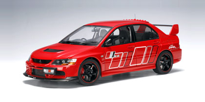 AUTOart: Mitsubishi Lancer EVO IX Ralliart - Red (77196) in 1:18 scale - mDiecast
