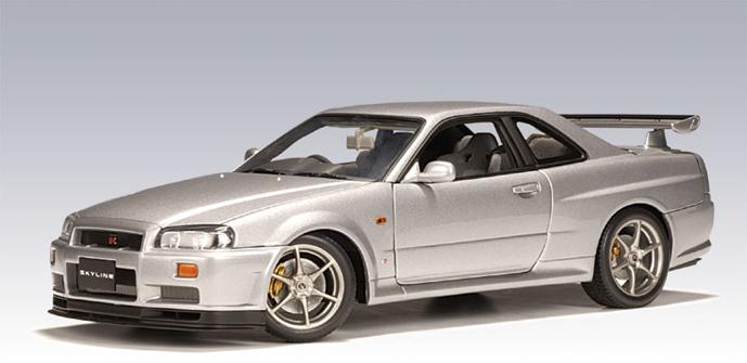 AUTOart: 1999 Nissan Skyline R34 GTR - Titanium Silver ...