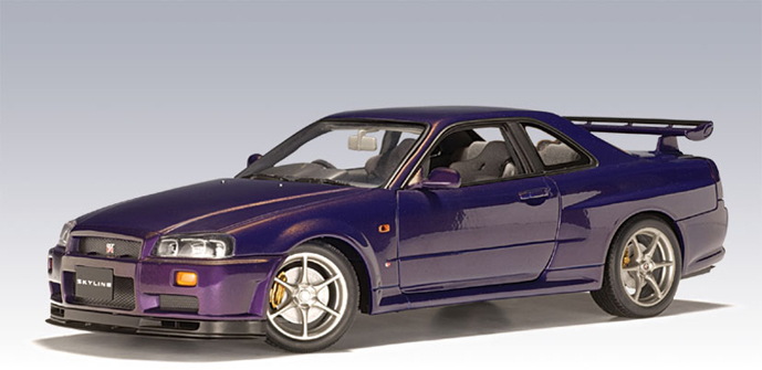 Autoart 1999 Nissan Skyline R34 Gtr Midnight Purple