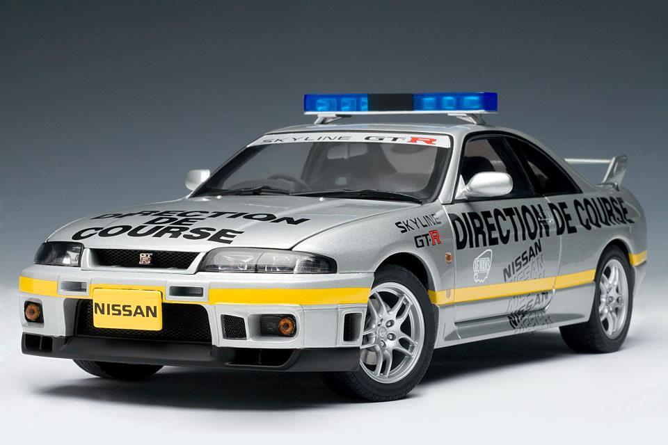 Autoart 1997 Nissan Skyline Gt R R33 Lemans Pace Car 77329 In