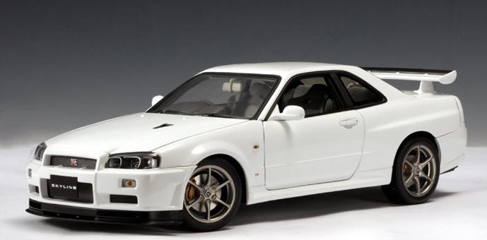 Autoart Nissan Skyline R34 Gtr V Spec Ii White 77333