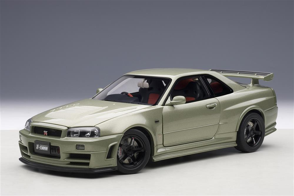autoart 2005 nissan skyline gt r r34 nismo z tune millennium jade 77353 in 1 18 scale. Black Bedroom Furniture Sets. Home Design Ideas