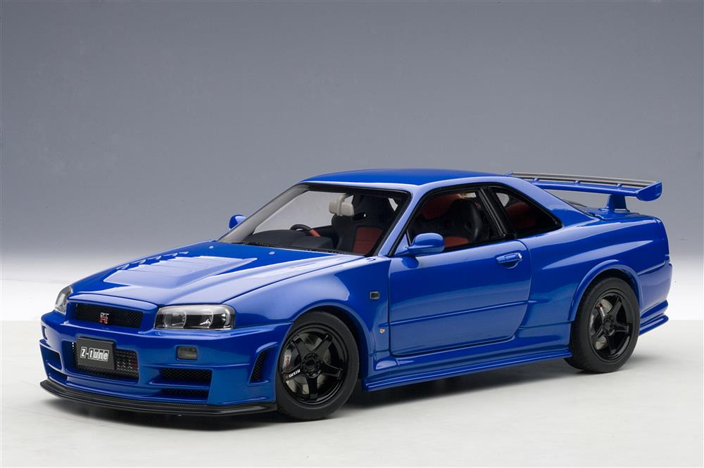 autoart 2005 nissan skyline gt r r34 nismo z tune bayside blue 77354 in 1 18 scale mdiecast. Black Bedroom Furniture Sets. Home Design Ideas