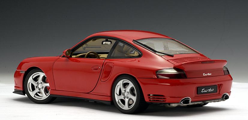Porsche 996 Turbo >> AUTOart: Porsche 911 Turbo (996) - Red (77831) in 1:18 scale - mDiecast