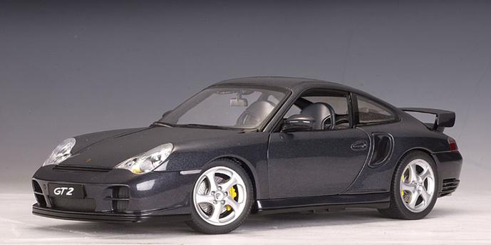 autoart 2002 porsche 911 996 gt2 black 77842 in 1 18 scale mdiecast. Black Bedroom Furniture Sets. Home Design Ideas