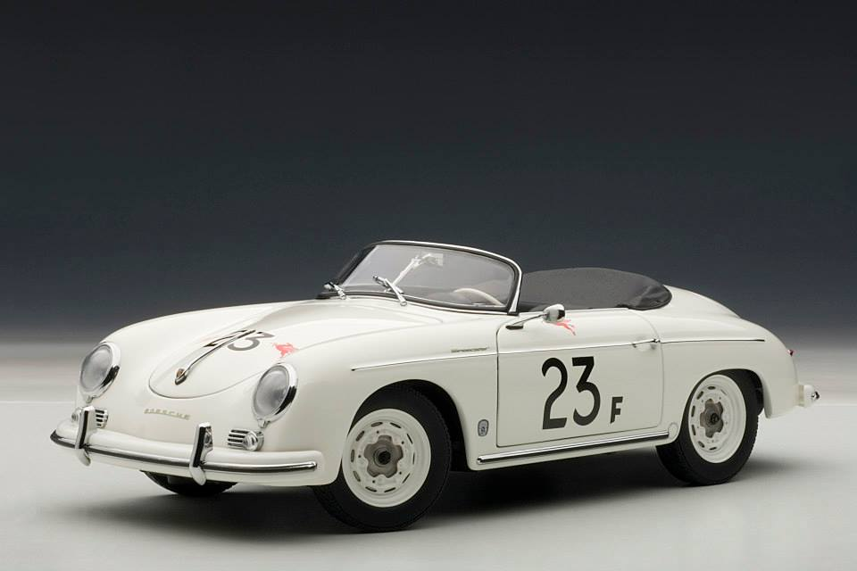 Autoart Porsche 356 Speedster 23f White 77865 In 1