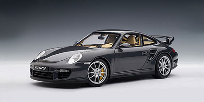 Autoart Porsche 911 997 Gt2 Dark Grey 77899 In 1 18