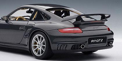 autoart porsche 911 997 gt2 dark grey 77899 in 1 18 scale mdiecast. Black Bedroom Furniture Sets. Home Design Ideas