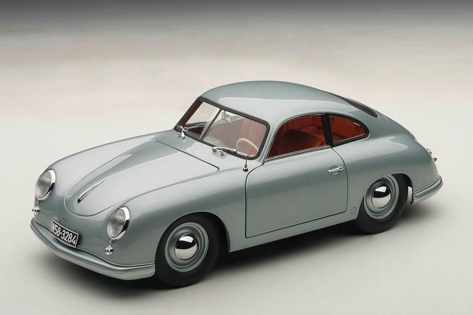 Autoart 1950 Porsche 356 Coupe Ferdinand Fish Silver