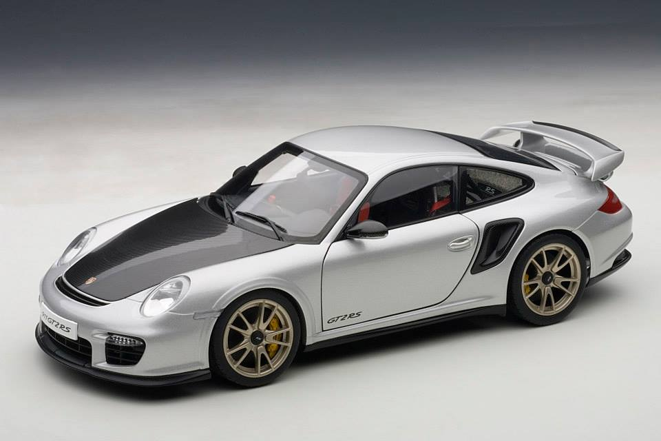 autoart porsche 911 997 gt2 rs silver 77961 in 1 18 scale mdiecast. Black Bedroom Furniture Sets. Home Design Ideas