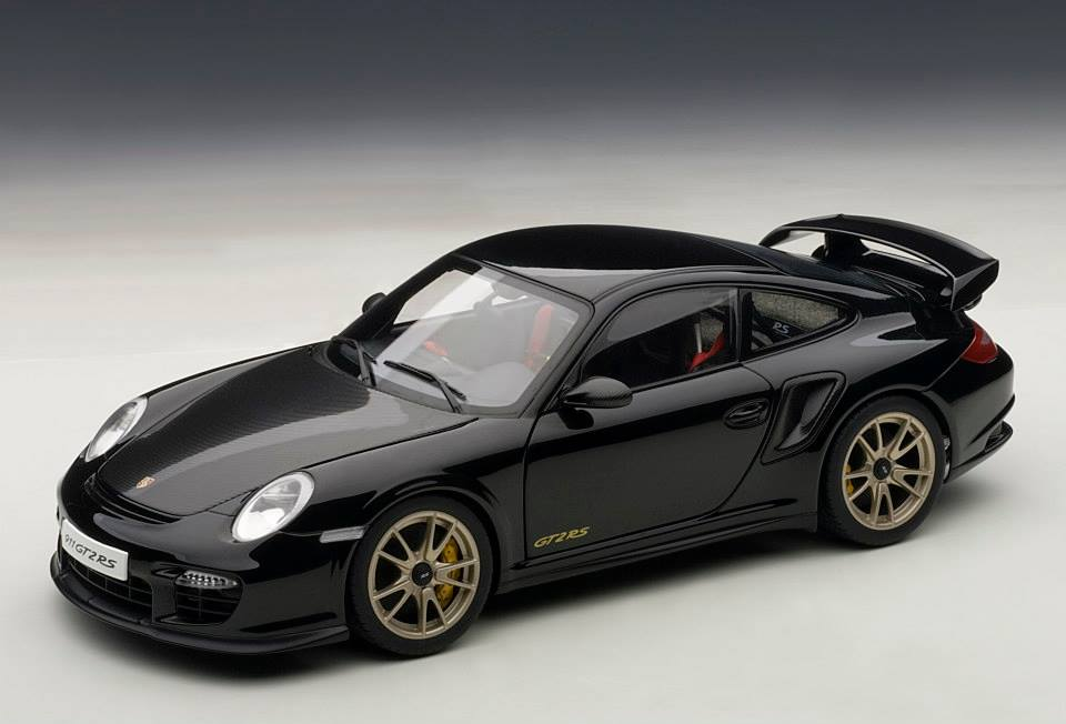 autoart porsche 911 997 gt2 rs black 77962 in 1 18 scale mdiecast. Black Bedroom Furniture Sets. Home Design Ideas