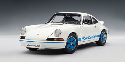 autoart 1973 porsche 911 carrera rs 27 white w blue