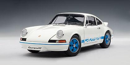Autoart 1973 Porsche 911 Carrera Rs 2 7 White W Blue