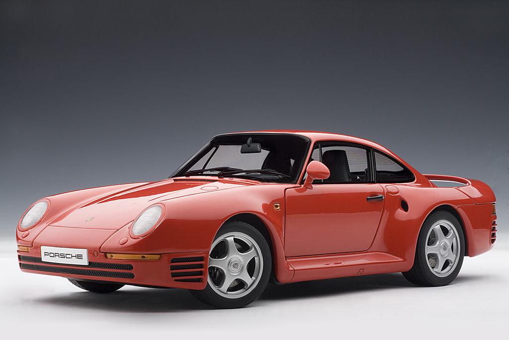 Porsche Model Cars >> AUTOart: 1986 Porsche 959 - Red (78082) in 1:18 scale - mDiecast