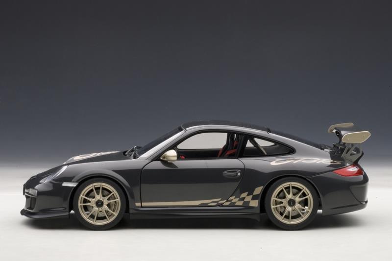 List Of Car Brands >> AUTOart: Porsche 911 (997) GT3 RS - Grey Black w/ White Gold Metal Stripe (78142) in 1:18 scale ...