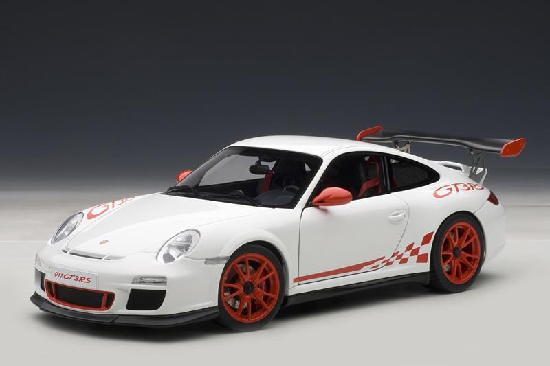 Autoart Porsche 911 997 Gt3 Rs White W Red Stripes 78143 In 1 18 Scale Mdiecast