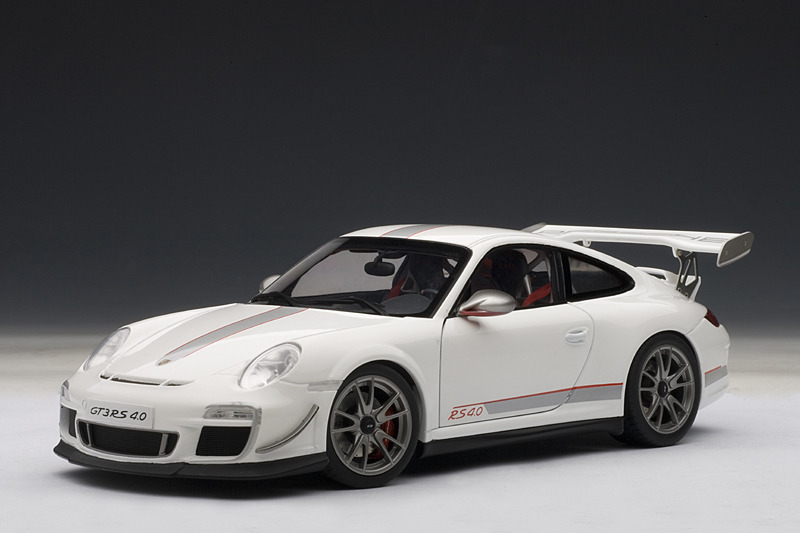autoart porsche 911 997 gt3 rs 4 0 white 78147 in 1 18 scale mdiecast. Black Bedroom Furniture Sets. Home Design Ideas