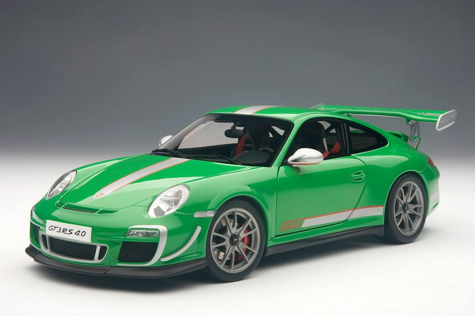 autoart porsche 911 997 gt3 rs 4 0 green 78149 in 1 18 scale mdiecast. Black Bedroom Furniture Sets. Home Design Ideas
