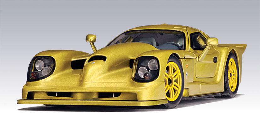 Autoart Panoz Gtr 1 Street Car Gold 78202 In 1 18