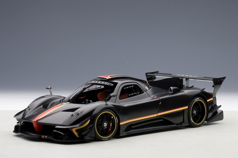 autoart pagani zonda r evo carbon fiber black 78270 in 1 18 scale mdiecast. Black Bedroom Furniture Sets. Home Design Ideas