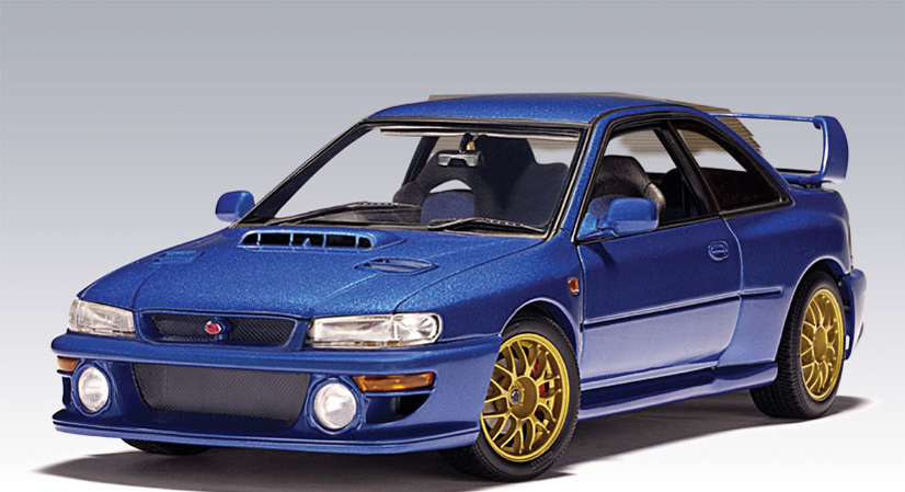 List Of Car Brands >> AUTOart: Subaru Impreza 22B (RHD) - Metallic Blue (78601) in 1:18 scale - mDiecast
