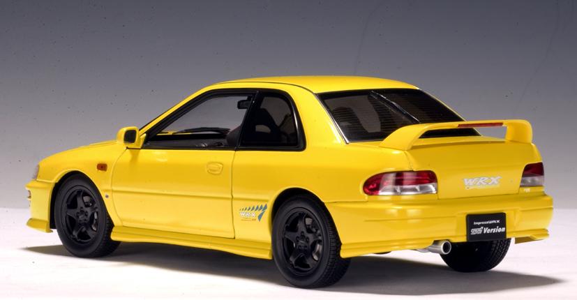 Subaru Wrx Sti Hatchback 2018 >> AUTOart: Subaru Impreza WRX Type R - Yellow (78611) in 1:18 scale - mDiecast