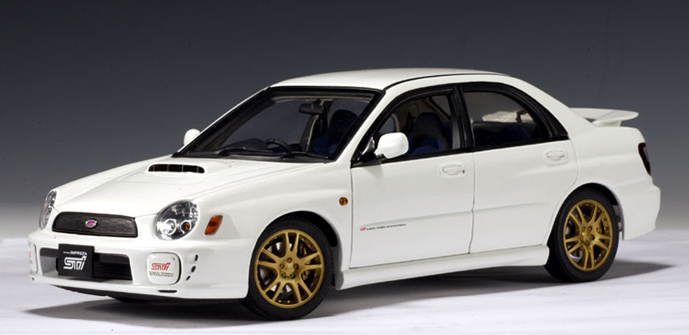 2018 Wrx Sti >> AUTOart: 2001 Subaru New Age Impreza WRX Sti - White ...