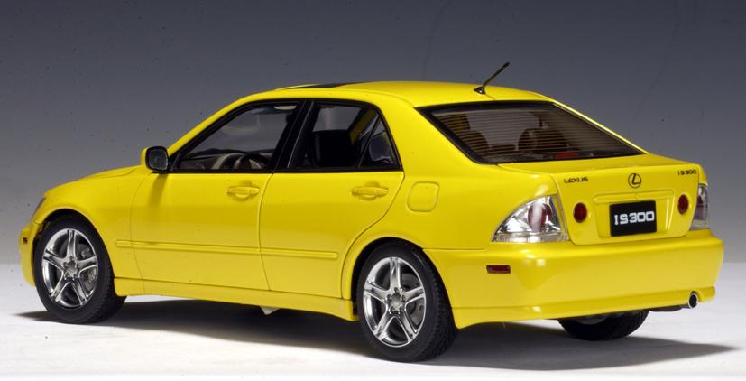 Autoart 2000 Lexus Is300 Yellow Lhd 78701 In 1 18