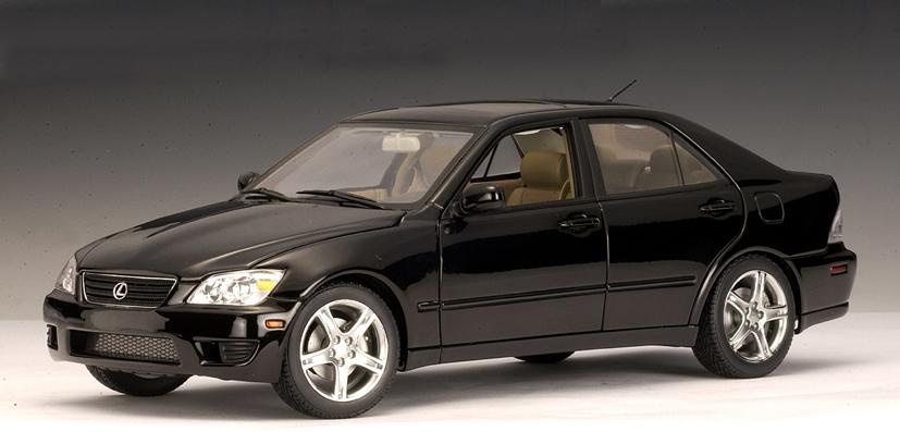autoart 2000 lexus is300 black lhd 78703 in 118