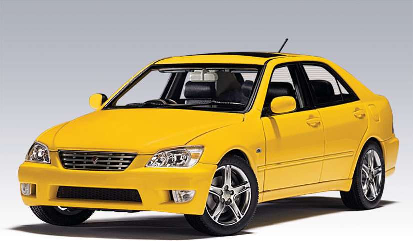 Toyota Cars List >> AUTOart: 2000 Toyota RS200 Altezza (RHD) - Yellow (78707) in 1:18 scale - mDiecast