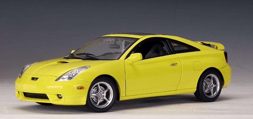 AUTOart: 2002 Toyota Celica GTS - Yellow - LHD (78723) in 1:18 scale ...