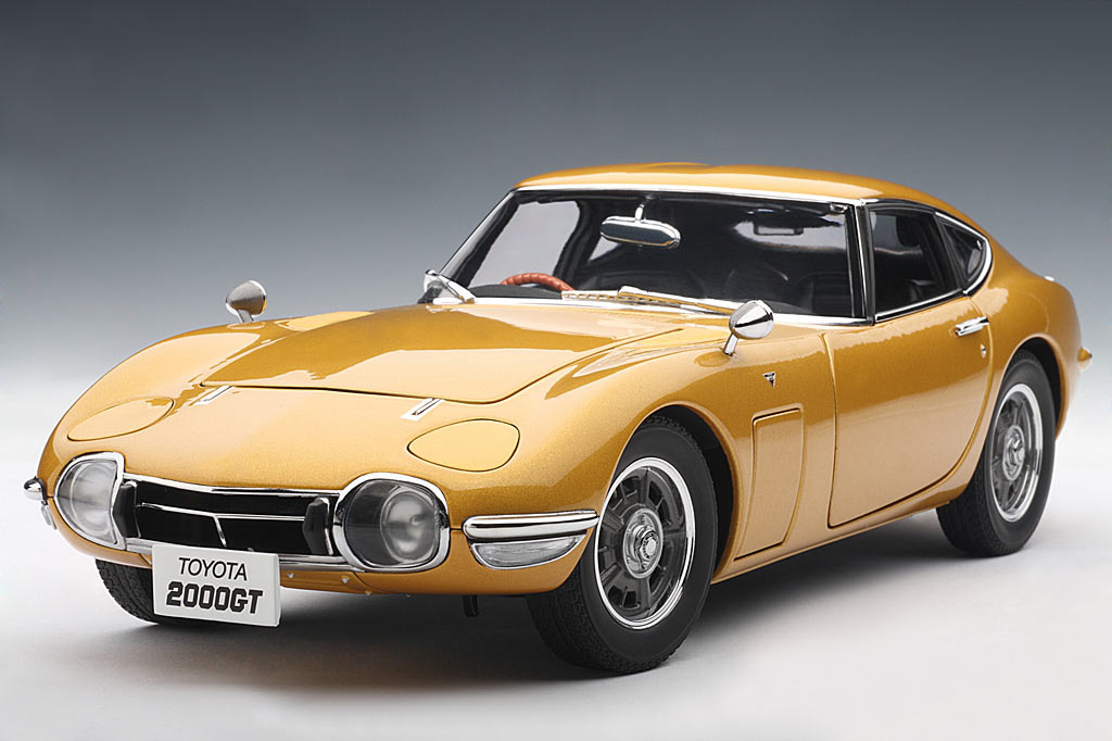 autoart toyota 2000 gt coupe gold 78749 in 1 18 scale mdiecast. Black Bedroom Furniture Sets. Home Design Ideas