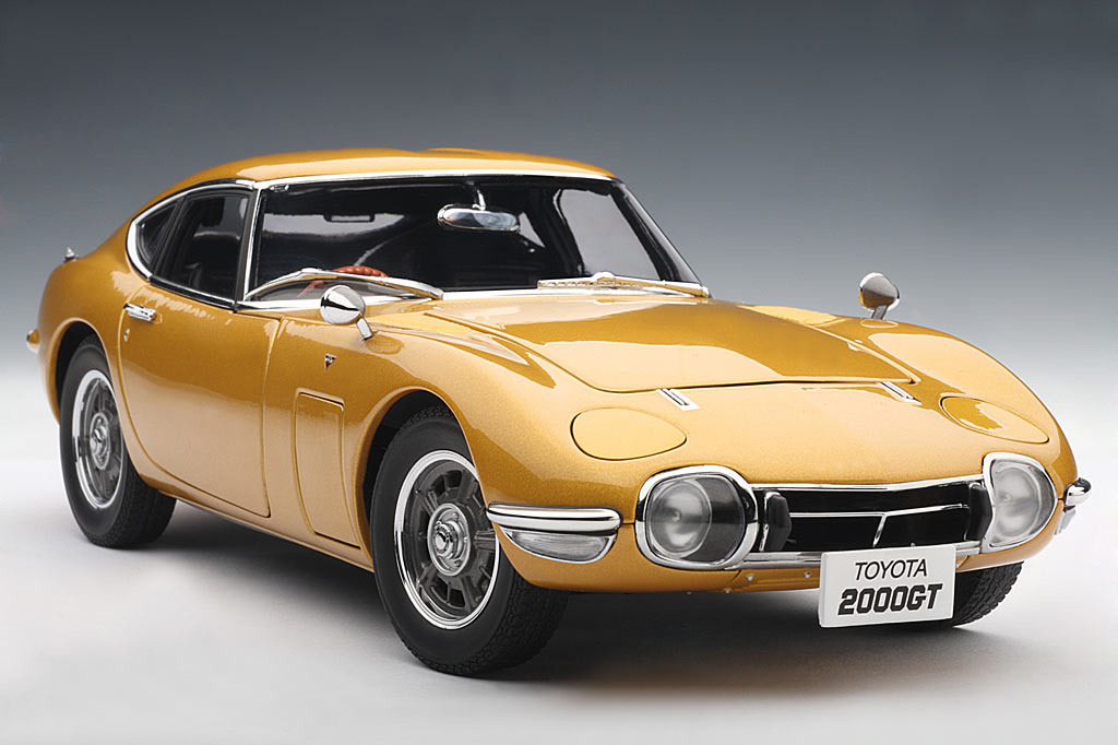 Toyota Owners Login >> AUTOart: Toyota 2000 GT Coupe - Gold (78749) in 1:18 scale - mDiecast