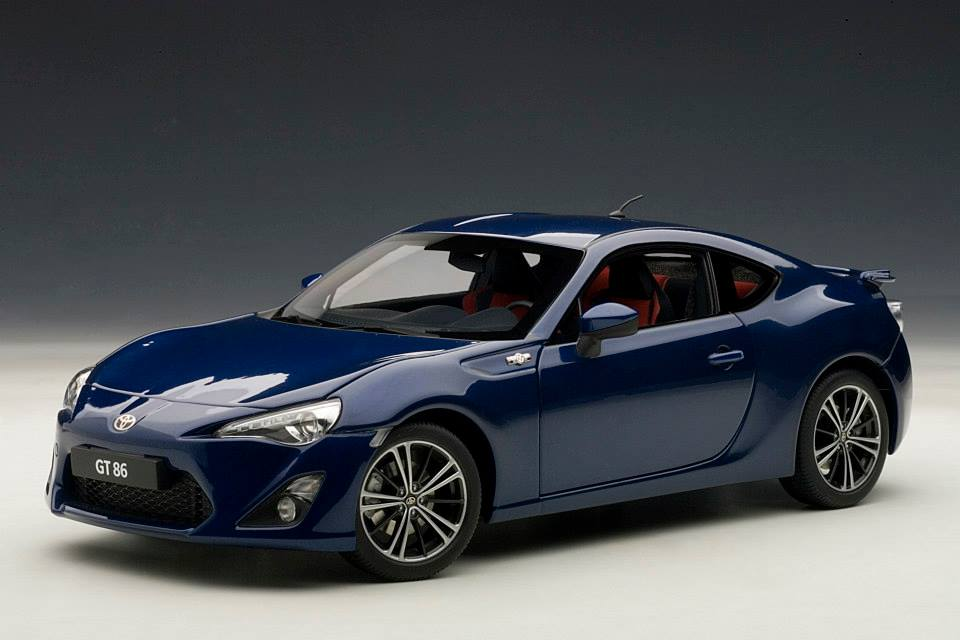 Autoart Toyota Gt86 European Version Lhd Blue Silica