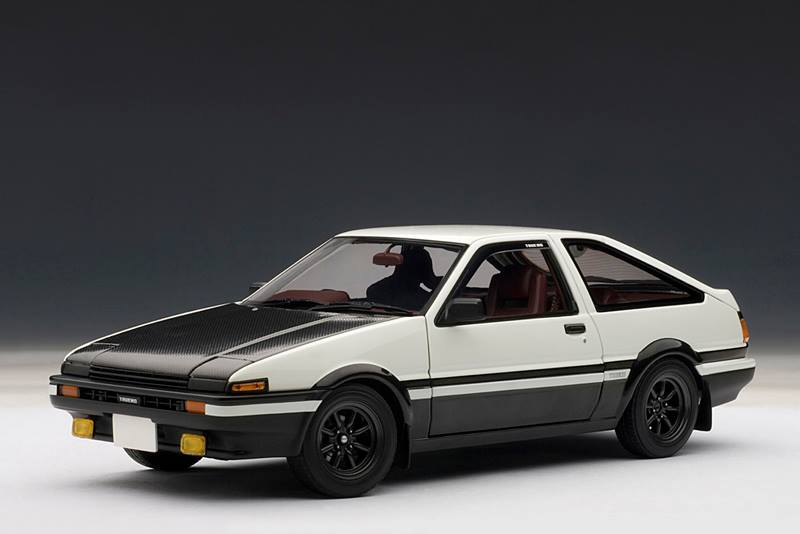 autoart toyota sprinter trueno ae86 initial d version 2 0 white 78797 in 1 18 scale. Black Bedroom Furniture Sets. Home Design Ideas
