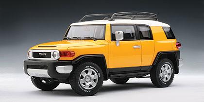 AUTOart: Toyota FJ Cruiser - Yellow (78857) in 1:18 scale ...
