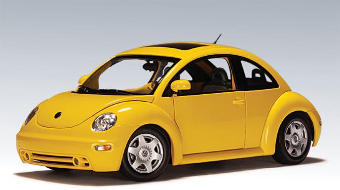 New Beetle 2018 >> AUTOart: 1999 Volkswagen New Beetle - Reflex Yellow (79731) in 1:18 scale - mDiecast