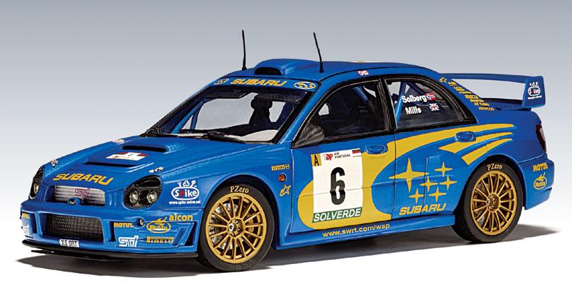 Brands Of Cars >> AUTOart: 2001 Subaru Impreza WRC - P.Solberg / P.Mills #6 (80193) in 1:18 scale - mDiecast