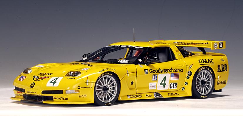 Diecast Racing Cars >> AUTOart: 2002 Chevrolet Corvette C5R ALMS - K.Collins / A.Pilgrim #4 (80207) in 1:18 scale ...